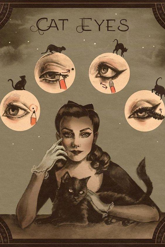 Vintage make up tutorial. So cool¡ More
