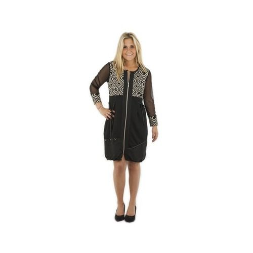 One O One Paris: Jagged Parachute Zip Dress, only on wildcurves.com!