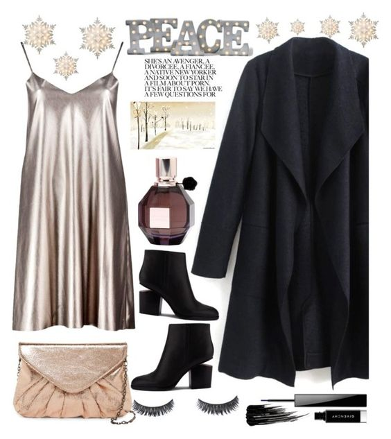 """""""#peace on earth"""" by felicitysparks ❤ liked on Polyvore featuring Boohoo, Alexander Wang, Givenchy, Urban Decay, Viktor & Rolf, Urban Expressions, Grandin Road and GE"""