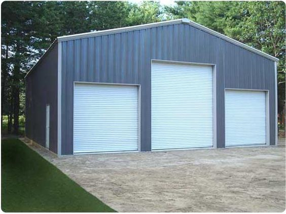Steel buildings building and metal buildings on pinterest for Residential garage kits