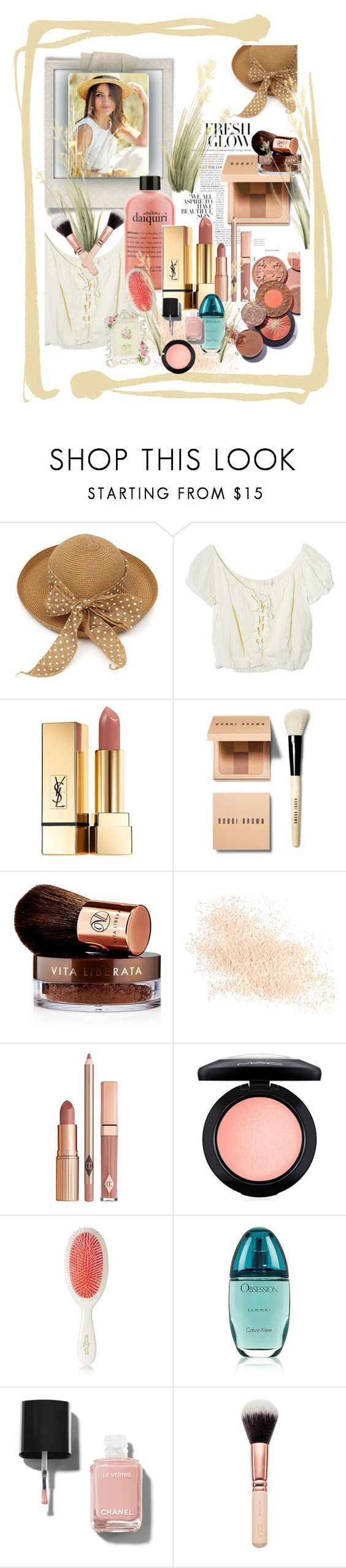 """Fresh Glow"" by onesweetthing ❤ liked on Polyvore featuring beauty, Polaroid, Jens Pirate Booty, Yves Saint Laurent, Bobbi Brown Cosmetics, Vita Liberata, Eve Lom, Dolce Vita, MAC Cosmetics and Mason Pearson"