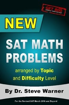 New SAT Math Problems gives you the most effective tips, tricks and tactics from Get 800, a prep company of doctors dedicated to their students achieving their dream SAT scores. This book is for the revised SAT beginning in March 2016. New SAT Math Problems is an essential part of every study plan to help you -get a perfect math score -improve enough to get into the school you want-learn SAT math in the fastest, most effective way possible The material in this SAT prep book includes:1. 240…