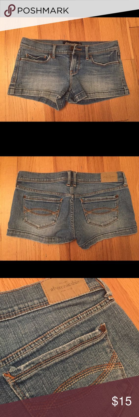 Abercrombie kids jean shorts Abercrombie girls jean shorts. Light wash and in great condition. KIDS SIZE 12 abercrombie kids Shorts Jean Shorts