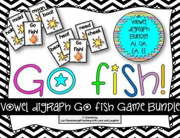 Go fish vowel digraph bundle activities plays and student for Go fish instructions