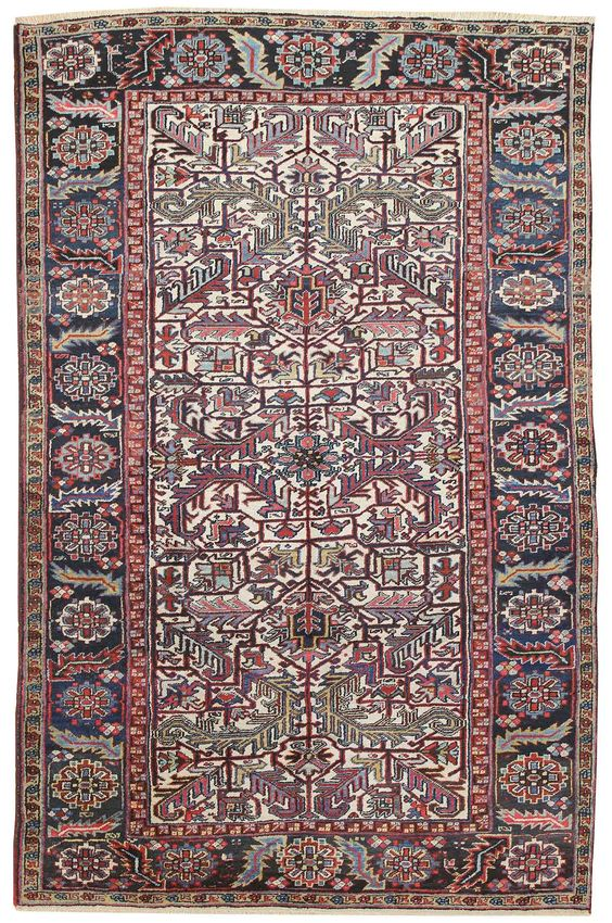Antique Heriz Rug    Hand-knotted in Persia  Circa 1935