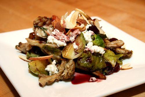 ... Mushrooms with Fresh Ricotta, Cranberries and Almonds| Stephanie Izard