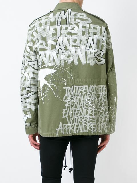 Faith Connexion graffiti print cargo jacket