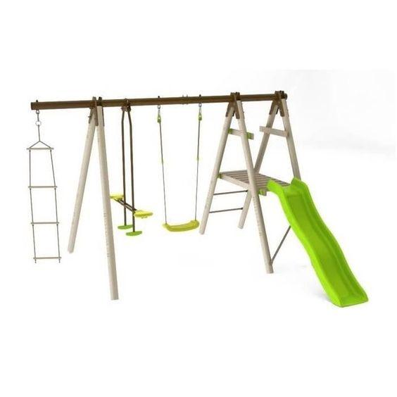199.99 € ❤ Le #BonPlan #BALANCOIRE / PORTIQUE en bois TRIGANO - OREKA 3 agrès / 4 enfants avec toboggan Trigano H 1,90 m ➡ https://ad.zanox.com/ppc/?28290640C84663587&ulp=[[http://www.cdiscount.com/juniors/plein-air/oreka-portique-3-agres-balancoire-4-enfants-avec/f-1200439-oreka.html?refer=zanoxpb&cid=affil&cm_mmc=zanoxpb-_-userid]]