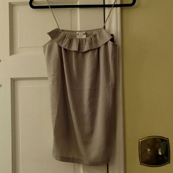 NEW J. Crew Taupe Ruffle Cami NEW SZ 4 This is new with tags and a size 4 J. Crew Tops Camisoles