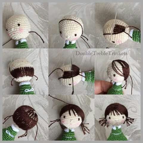 Hair Tutorial Amigurumi crochet: