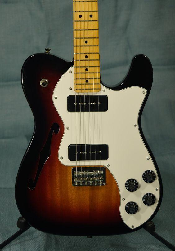 Fender Modern Player Telecaster Thinline Deluxe, 3-Color Sunburst - Indian Creek Guitars