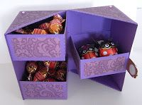 free cut files and tutorial for secret 3 drawer box card Stampika Blog: