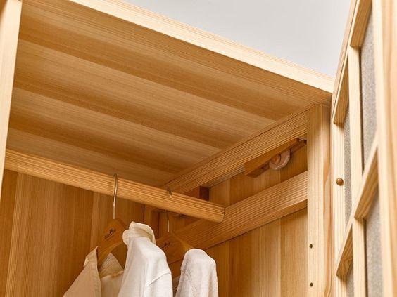 Kleiderstange für Kurido/Hiraki Kleiderschrank Länge 577 mm, Lärche ...
