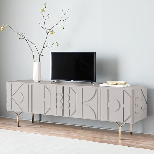 Pictograph Media Console 84 Flax Furniture Modern Furniture Home Decor