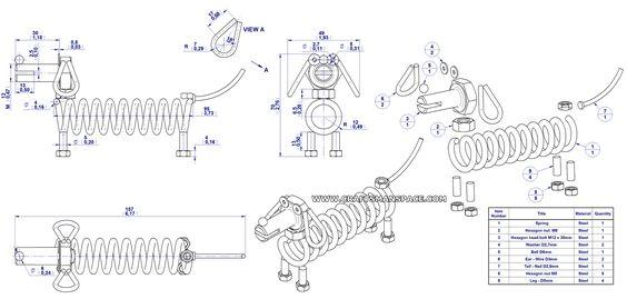 HOW TO PRINT ART ON METAL | Scrap metal dog figure plan - 2D drawing