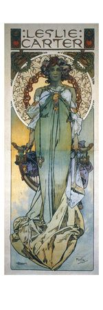 Alphonse Mucha. Theatrical Poster - Leslie Carter