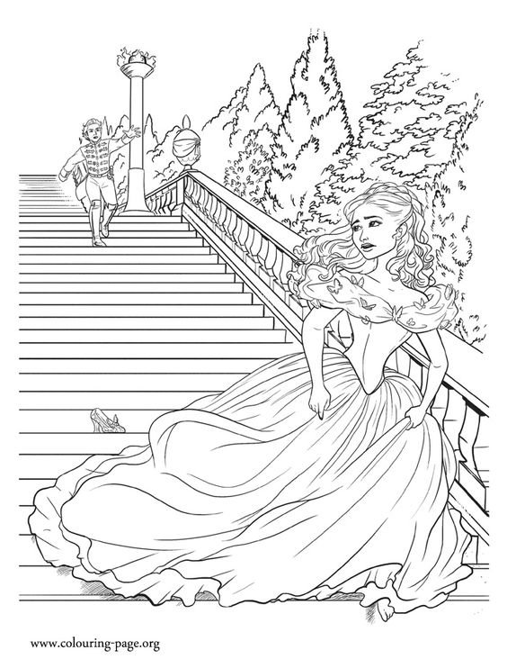 Beautiful, Coloring and Running away on Pinterest Cinderella Running Away From The Ball