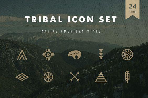 Tribal Icon Set by skyboxcreative on Creative Market