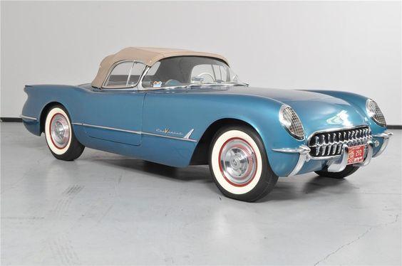 silver blue 1955 CHEVROLET CORVETTE ROADSTER