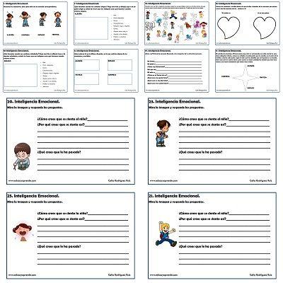 Fichas de Educación Emocional. E. Infantil y Primer ciclo E. Primaria.