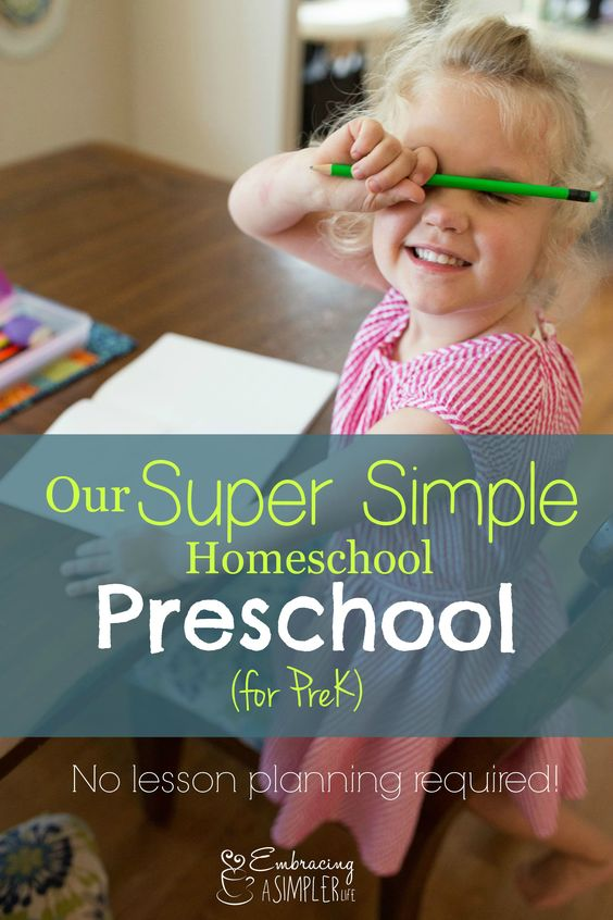 Our simple PreK homeschool requires no daily planning, includes lots of repetition and practice, and is so rewarding and successful! Teach your child to read and write before Kindergarten! See what we do here. #prekindergarten #homeschool