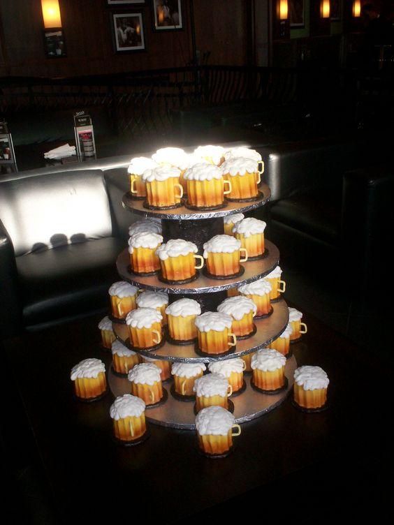 Cupcakes That Look Like Beer Mugs Our Groom S Cakes