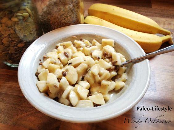 Paleo ontbijt: Banaan-kokos ontbijtje