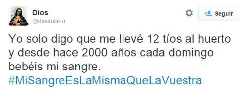 Tomad y bebed todos de él por @diostuitero #MiSangreEsLaMismaQueLaVuestra