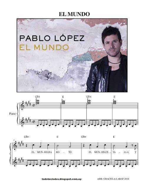 El Mundo Pablo López Partituras Digitales Partituras Canciones Para Piano