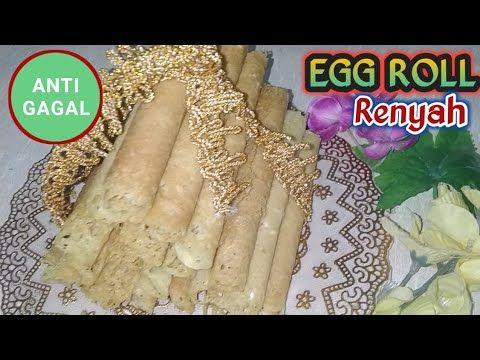 Cara Membuat Egg Roll Enak Mudah Dan Renyah Kue Semprong Opak Gambir Youtube Semprong Resep Kue