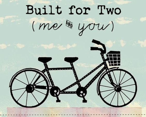 Tandem Bicycle Art Print For Wedding by thedreamygiraffe on Etsy, $18.00