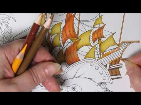 Pirat Mit Papagei Pirate With Parrot Part 1 Coloring Book Fantasia By Nicholas F Chandrawienata Youtube Wenn Du Mal Buch Papagei Piraten