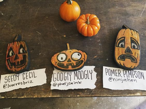 Happy Halloween! Here are the winners from yesterday's giveaway.  Googly Moogly @phatjoeink  Seedy Cecil @lowresbriz  Pomer Pimpson @ninjahen  Thanks to everyone that entered especially @endlessmeghan @tamponisher @snakesnbucks @ashliebucks @bromarleon @disney444