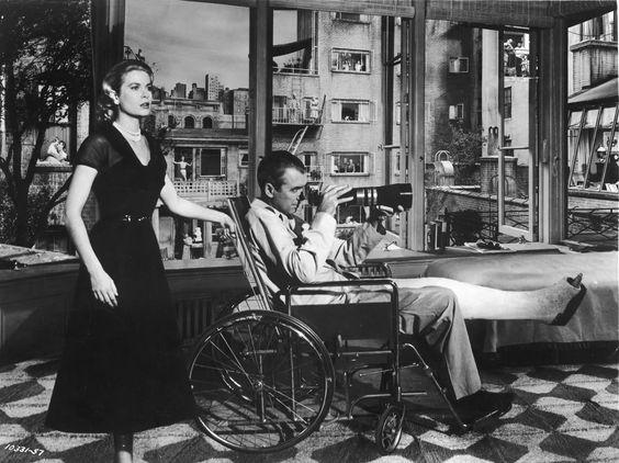 Grace Kelly and Jimmy Stewart in Rear Window