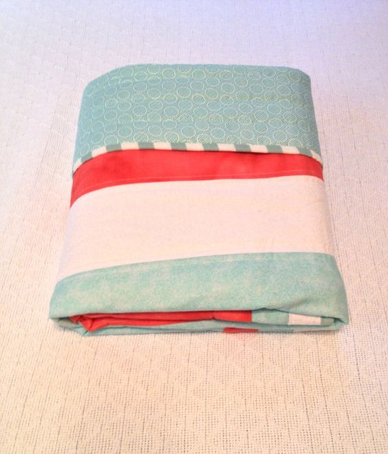 Price reduced Coral and Teal Modern little Girls by CraftyCrewX4, $115.00
