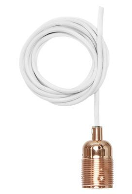Suspension Frama Kit / Set câble tissu & Douille E27 Cuivre / Câble blanc - Frama - Pop Corn
