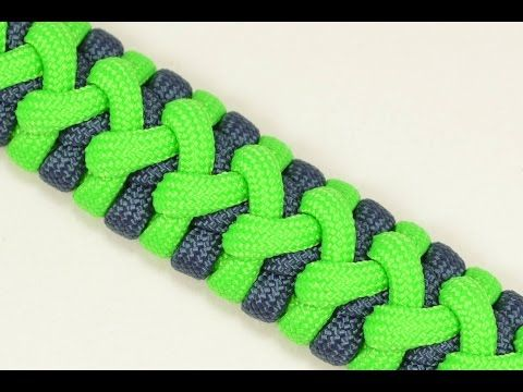 "How to Make a Variation of the ""Caged Solomon"" - Paracord Bracelet - BoredParacord - YouTube"