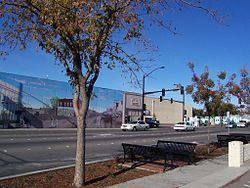 Crossroads Mural by Dave Gordon - Manteca, California