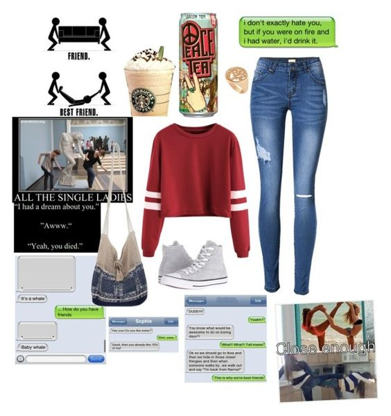 """Me and my bestie!!"" by goldengryffindorgal ❤ liked on Polyvore featuring Allurez, philosophy, NOVICA and Converse"