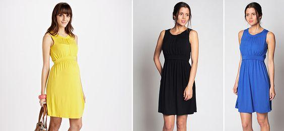 Ally Umstands- und Still-Kleid aus der Kategorie Kleider Kurzarm von Mamarella