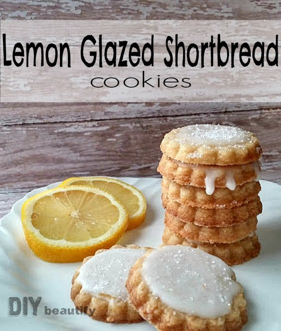 Lemon shortbread cookies, Shortbread cookies and Lemon icing on ...