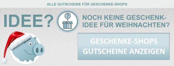 Alle Rabattgutscheine für Geschenke-Shops mit Geschenkideen für Weihnachten kostenlos bei gutscheine4free.de