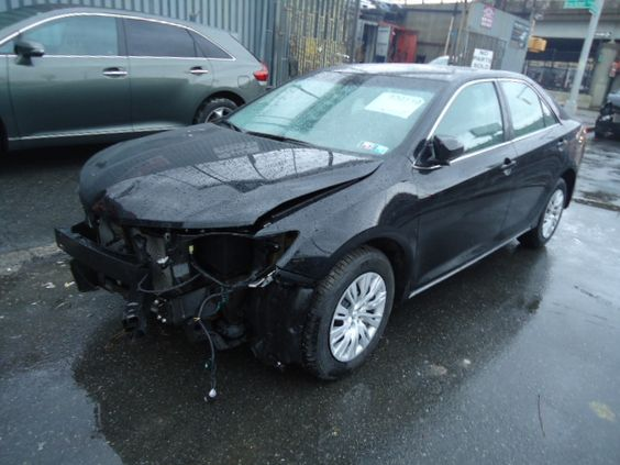 Salvage 2012 TOYOTA CAMRY LE  THIS IS A SALVAGE REPAIRABLE VEHICLE WITH FRONT END COLLISION DAMAGE. THIS VEHICLE RUNS AND DRIVE , HAS ALL AIRBAGS INTACT. For more information and immediate assistance, please call +1-718-991-8888.