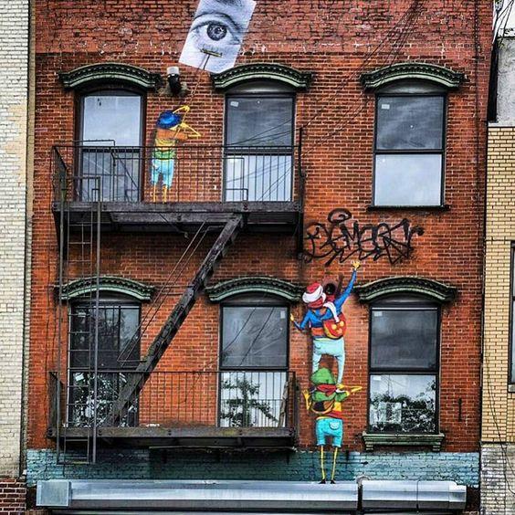"Graffiti Clicks and Street Art on Instagram: ""Work by @osgemeos @jr"""