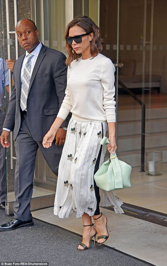 Busy bee: Victoria Beckham proved she wouldn't be taking things easy now that she'd finished the show as she headed out for another hectic day in the city on Monday