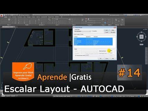 AutoCAD 2015 Tutorial Basico Starter 14 / Escalar Lineas en Layout - YouTube