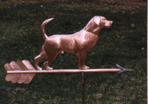 Custom Copper Weathervanes | animal dog dog weathervane ask about this weathervane