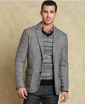 Tommy Hilfiger Jacket, Bostonian Tweed Blazer - Mens Blazers ...