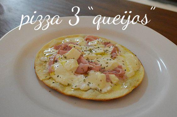 """Pizza """"Três Queijos"""" com Presunto"""