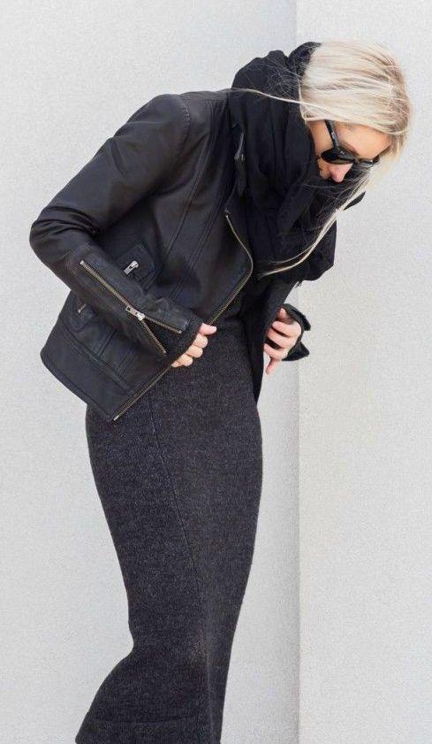 Maxi wool dress City chic: